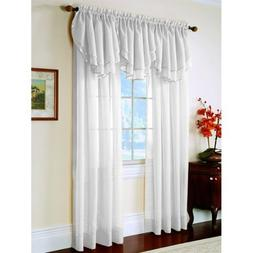 Elegance Sheer Curtain Panel 60'' x 63'' long - White