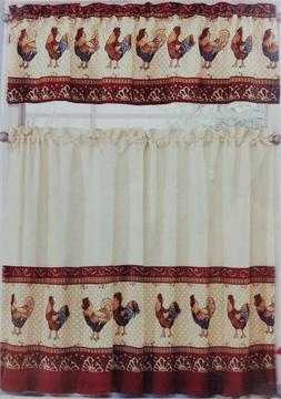 "Ellery Homestyles 28"" x 36"" Tier & Valance Curtain Set Tusca"