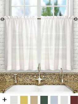 Ellis Curtain Stacey 56-by-30 Inch Tailored Tier Pair Curtai