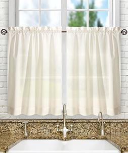 Ellis Curtain Stacey Sheer 56-by-45 Tailored Tier Pair Curta