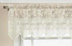 LORRAINE HOME FASHIONS Floral Vine 60-inch x 18-inch Valance