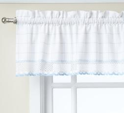 Lorraine Home Fashions Adirondack Valance, 60 by 12-Inch, Wh