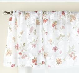 Lorraine Home Fashions Brewster Lace Tailored Valance, 50 by