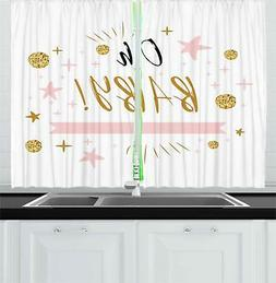 """Oh Baby Kitchen Curtains 2 Panel Set Window Drapes 55"""" X 39"""""""
