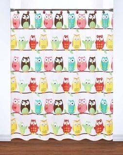 Saturday Knight Owl Shower Curtain