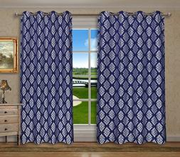Pack of 2, CaliTime Grommets Window Curtains Panels for Bedr