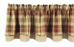 "Park Designs ""Saffron"" Country Lined Layer Valance,72"" Wide"