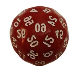 Red- 60 Sided Polyhedral Dice - Role Playing Games and Math