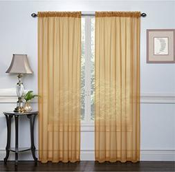 Regal Home Collections Crystal Sheer Voile Rod Pocket Panel