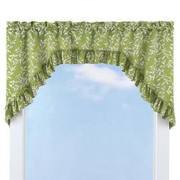 Ruffled Leaf Swag Window Curtain Valance Topper, by Collecti