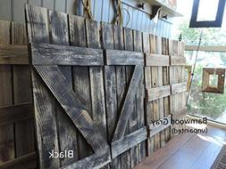 """Rustic Window Shutters  14"""" wide X 36"""" tall for 46"""" X 36"""" Wi"""