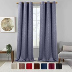 Set of 2 Virginia Blackout Leafy Weave Curtains Modern Gromm