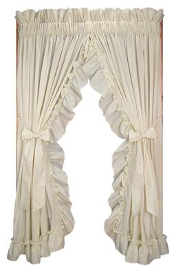Stephanie Solid Color Country Ruffled Priscilla Window Curta