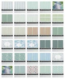 Teal and White Kitchen Curtains 2 Panel Set Window Drapes 55