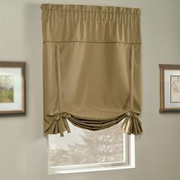 United Curtain Blackstone Blackout Tie Up Shade, 40 by 63-In