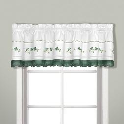 United Curtain Gingham Embroidered Valance, 60 by 14-Inch, G