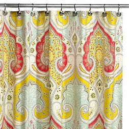 Uphome 72 X 72 Inch Bright India Tropical Shower Curtain wit