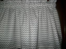 Valance Gray Chevron Zig Zag stripes fabric kitchen window c