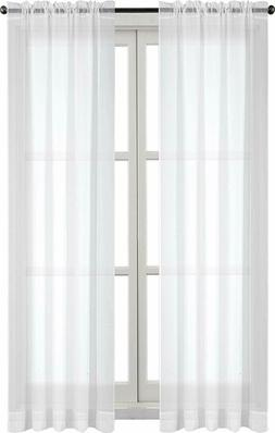 "2 Panel Sheer Voile Curtains Window Curtain 52 x 84"" Utopia"