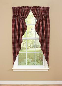 """Park Designs Abbott Lined Gathered Swag, 72 x 63"""""""