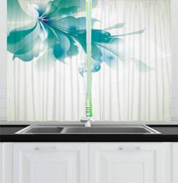 abstract decor kitchen curtains ombre