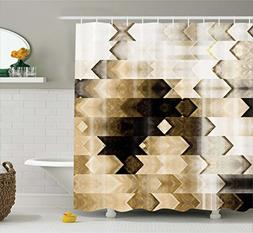 Abstract Decor Shower Curtain by Ambesonne, Artistic Geometr