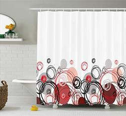 Ambesonne Abstract Shower Curtain by, Horizontal Stripe Desi