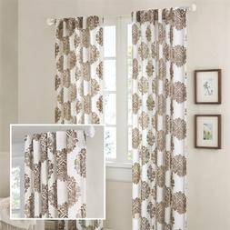 Madison Park Addison Anthro Burn Out Sheer Curtain - Brown -