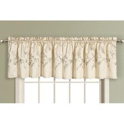 Addison Curtain Valance Color: Natural