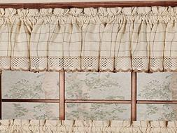 Sweet Home Collection Cotton Kitchen Window Curtains Pair, V