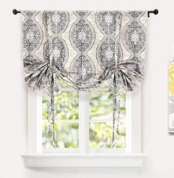 DriftAway Adrianne Tie Up Curtain,Damask/Floral Pattern Ther