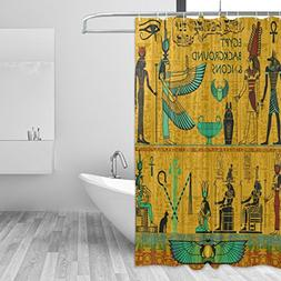 African Art Home Decor Shower Curtain Set By ALAZA,Ancient E