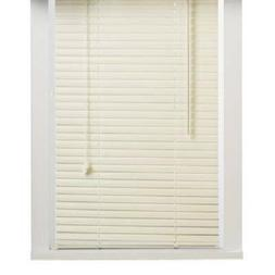 "New 5th Ave Collection Alabaster Vinyl 1"" Mini Blinds - 31"""
