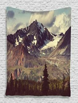 Ambesonne Alaska Mountains Tapestry Decor by, Arctic Landsca