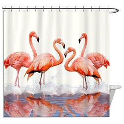Animals Funny Shower Curtain, Flamingo Shower Curtain Fabric