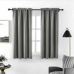 Anjee Rod Pocket Curtain Panel Thermal Insulated Blackout Cu