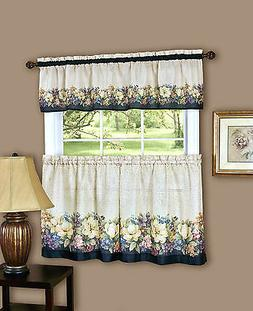Antique Floralª Kitchen Curtain Tier and Valance Set By Ach