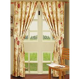 Greenland Home Fashions Antique Rose 84-inch Curtain Panel P