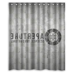 "Aperture Science Aperture Laboratories Shower Curtain 60"" x"