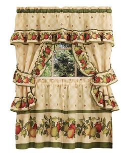Apple Orchard Complete 5 Pc. Kitchen Curtain Tier & Swag Set