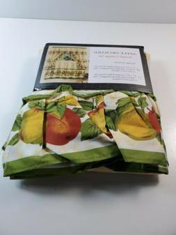 """Apple Orchard Complete Kitchen Curtain Set 24"""" long Window C"""
