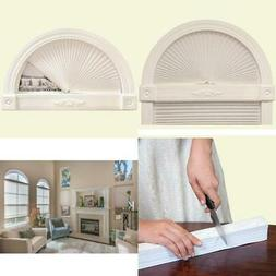 Arch Window Shade Blind White Light Filtering Pleated Fabric