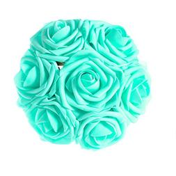 ling's moment Artificial Flowers Robin's Egg Blue Roses 50pc