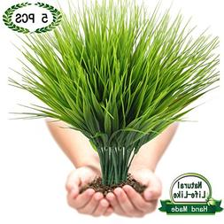 Artificial Plants Faux Plastic Wheat Grass Fake Leaves Shubs