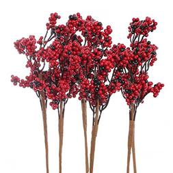 Factory Direct Craft Package of 6 Artificial Red and Deep Bu