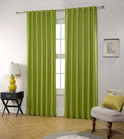Blackout Curtains by MYSKY HOME Back Tap and Rod Pocket Ther
