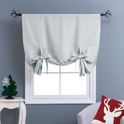 Blackout Thermal Drapes Curtains Tie Up Shades Short Kitchen