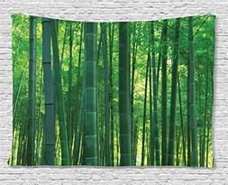 Bamboo House Decor Tapestry Ambesonne, Asian Oriental Exotic