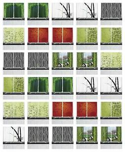 "Bamboo Kitchen Curtains 2 Panel Set Window Drapes 55"" X 39"""