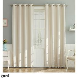 Aurora Home Basketweave Linen Look Room Darkening Blackout G